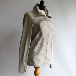 Lululemon Cream Zip Up Jacket